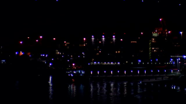 ws durban harbor at night / durban/ south africa - durban stock videos and b-roll footage