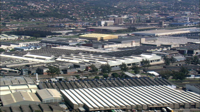 durban industrial  - aerial view - kwazulu-natal,  south africa - durban stock videos and b-roll footage