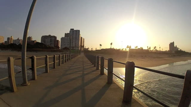 durban pier dolly - durban stock videos and b-roll footage
