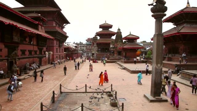 durbar squar in kathmandu, nepal. - kathmandu stock videos & royalty-free footage