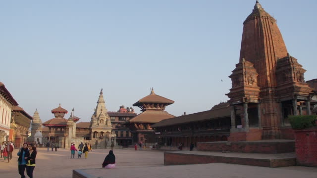 durbar square, bhaktapur, nepal - public building stock videos and b-roll footage