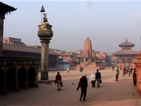 durbar square, bhaktapur. - south asia stock videos and b-roll footage