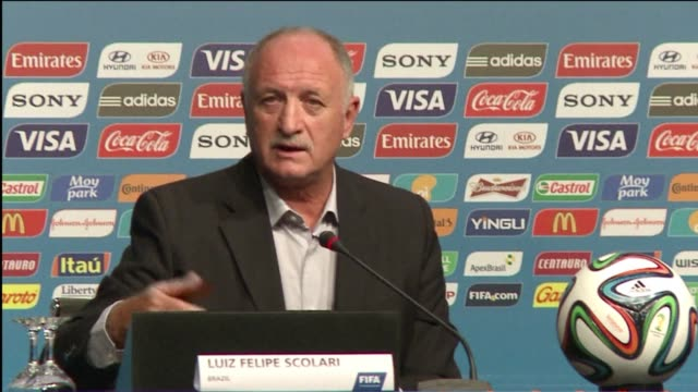 during a meeting of world cup coaches in the southern brazilian city of florianopolis for a series of pretournament seminars france's manager didier... - südbrasilien stock-videos und b-roll-filmmaterial