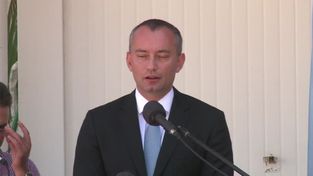 during a press conference after his arrival in gaza the un special envoy for the middle east nickolay mladenov said he was concerned about the... - compounding stock videos and b-roll footage