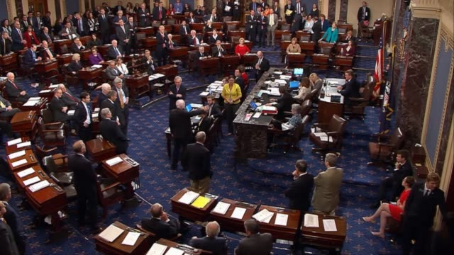 during a roll call vote to adopt the health care freedom act introduced hours earlier by senate republicans to amend the american health care act as... - senate stock videos & royalty-free footage