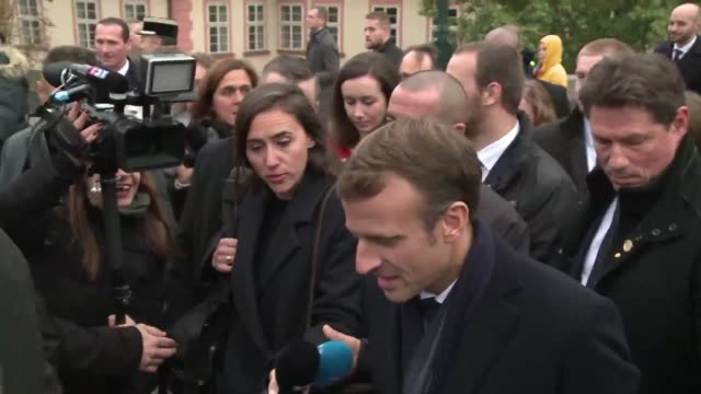 during a walk on the charles bridge in the centre of prague french president emmanuel macron says he called russian president vladimir putin about... - charles bridge stock videos & royalty-free footage