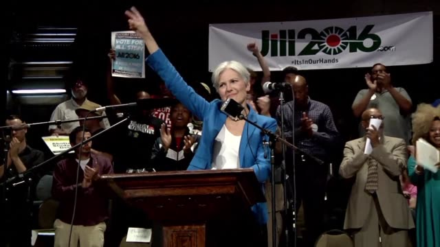 during an election in which voters have expressed record disdain for both major candidates the green partys jill stein is offering a third option... - jill stein stock videos and b-roll footage