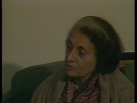 during an interview, indira gandhi denies she ran an authoritarian government, saying she wasn't strong enough. - (war or terrorism or election or government or illness or news event or speech or politics or politician or conflict or military or extreme weather or business or economy) and not usa stock videos & royalty-free footage