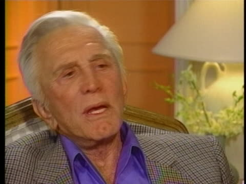 during an interview on today, actor kirk douglas comments on his life after surviving a tragic helicopter crash. - kirk douglas actor stock videos & royalty-free footage