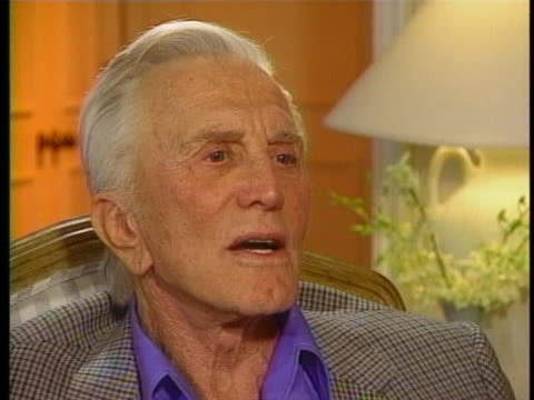 """during an interview on today, actor kirk douglas says """"be careful of what you dream, it may come true"""". - kirk douglas actor stock videos & royalty-free footage"""