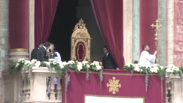 during Easter Mass in St Peter's Square on April 24 2011 in Vatican City Vatican