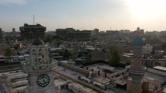 during ramadan, life in iraq swells with prayers at the mosques and crowded iftar dinners, but due to coronavirus during this year's muslim holy... - iraq video stock e b–roll