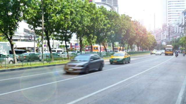 during rush hour traffic bangkok city. - multiple image stock videos & royalty-free footage