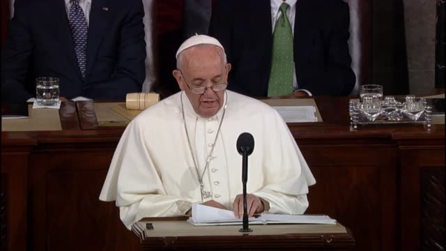 During speech to a joint meeting of Congress Pope Francis mentions Dorothy Day in discussion of progress against global property Encourages audience...