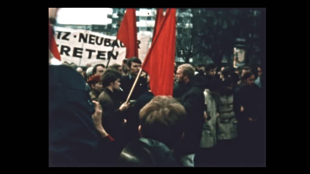 during spring 1968 students take to the streets protesting vietnam war and german emergency acts debated in parliament. student leader rudi dutschke... - 1968 stock videos & royalty-free footage