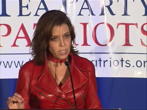 during tea party patriots election night event independent women's forum chairman heather higgins says one of the most important messages of the... - midterm election stock videos & royalty-free footage