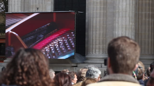 during the church service for former french president jacques chirac at eglise saint-sulpice on september 30, 2019 in paris, france. the former... - large scale screen stock videos & royalty-free footage