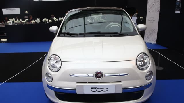 FIAT 500 during the conceptcars exhibition and automobile design in Paris on February 1 2019 The latest conceptcars and supercars are displayed...