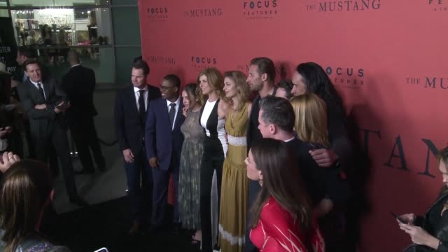 during the hollywood premiere of her movie the mustang french director laure de clermont tonnerre talks about what drove her to film the relationship... - prisoner rehabilitation stock videos & royalty-free footage