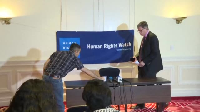 during the presentation of his new report human rights watch executive director for americas jose miguel vivanco made strong critics against the... - executive director stock videos & royalty-free footage