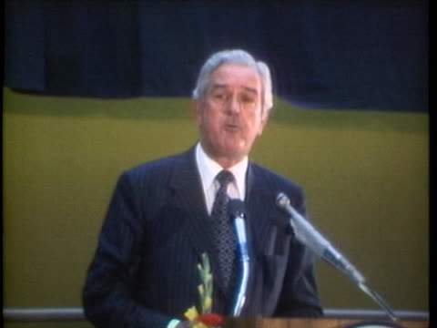during the republican women's convention in 1973 us treasury secretary john connally comments that former vice president spiro agnew deserves a fair... - john connally stock videos & royalty-free footage