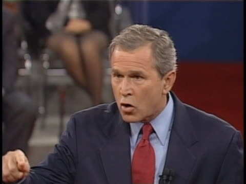 during the third us presidential debate of the 2000 campaign season texas governor george w bush says he wants to take a trillion dollars and allow... - payslip stock videos & royalty-free footage