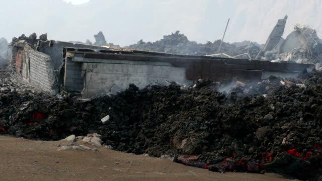 vídeos y material grabado en eventos de stock de during this eruption the village portela was destroyed by a lava flow - cabo verde