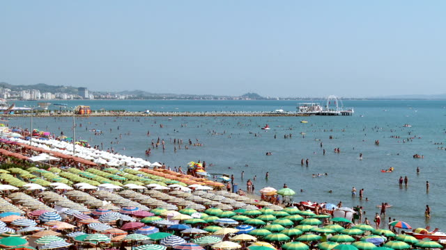 durres beach - albania stock videos & royalty-free footage
