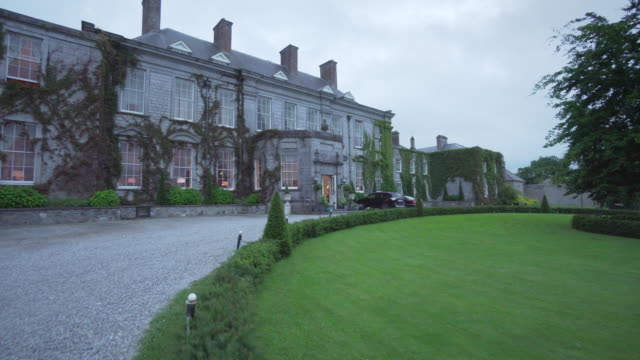 dusk at castle durrow- ireland - castle stock videos & royalty-free footage