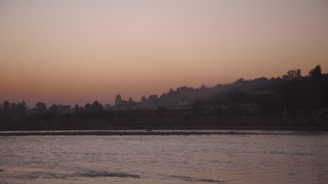 dusk ceremony at ganges river - India