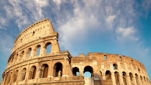 dusk falls on the collosseum - rome italy stock videos and b-roll footage