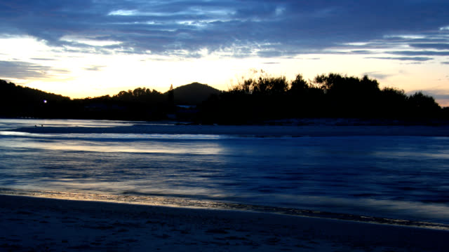 dusk over inlet - inlet stock videos & royalty-free footage