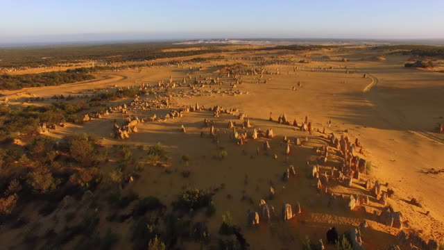 dusk over pinnacles desert / lancelin, western australia - sand dune stock videos & royalty-free footage