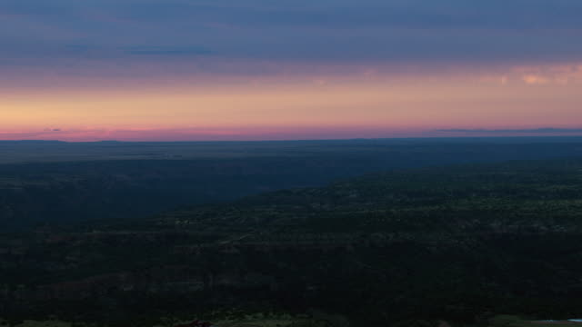 dusk over scenic texas panhandle landscape - state park stock videos & royalty-free footage