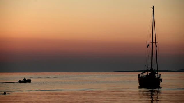 dusk over sea - mediterranean sea stock videos & royalty-free footage