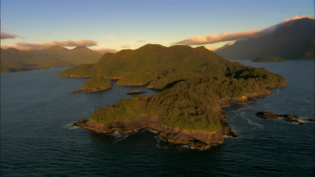 LOW AERIAL, Dusky Sound, Fiordland National Park, New Zealand