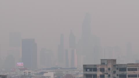 pm 2.5 damm luftföroreningar i bangkok, thailand - bangkok bildbanksvideor och videomaterial från bakom kulisserna