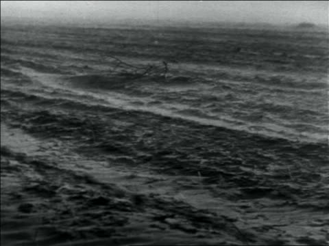 b/w 1936 dust blowing over dusty plain in storm / dust bowl / usa - 1936 stock videos and b-roll footage