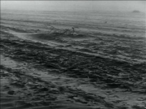 vidéos et rushes de b/w 1936 dust blowing over dusty plain in storm / dust bowl / usa - 1936
