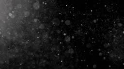 Dust Particles shot on black.