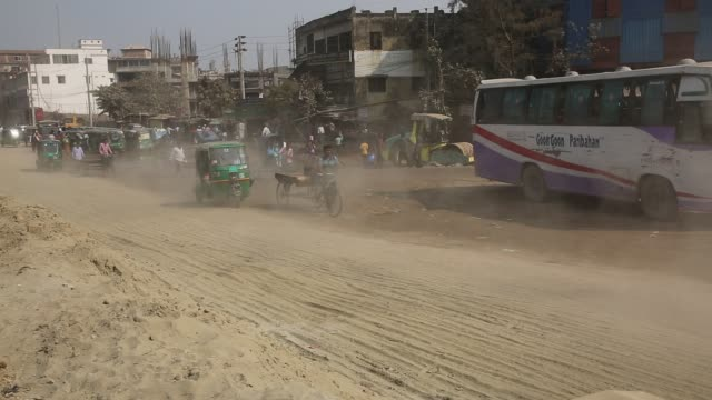 dust pollution reaches an alarming stage in dhaka and many deaths as well as several million cases of illness occur every year due to the poor air... - bacterium stock videos & royalty-free footage