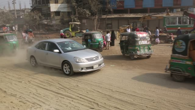 dust pollution reaches an alarming stage in dhaka and many deaths as well as several million cases of illness occur every year due to the poor air... - quality control stock videos and b-roll footage