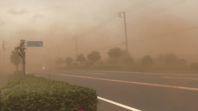 dust storm, ibaraki, japan - sandstorm stock videos & royalty-free footage