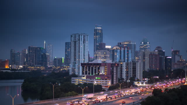 Dust to Night Time Lapse of Downtown Austin