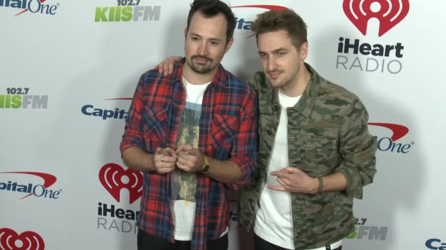 dustin belt and kendall schmidt at the kiis fm's iheartradio jingle ball 2018 at the forum on november 30 2018 in inglewood california - kendall schmidt stock videos & royalty-free footage