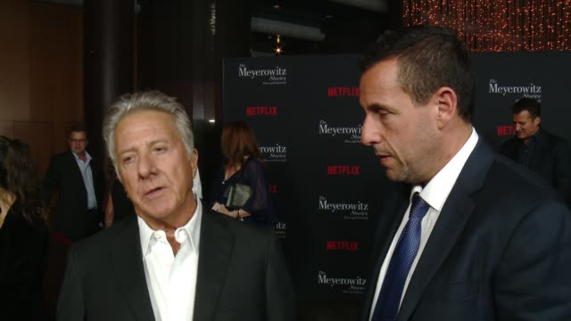 interview dustin hoffman adam sandler at directors guild of america on october 11 2017 in los angeles california - adam sandler stock videos & royalty-free footage