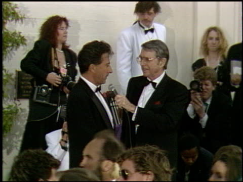 dustin hoffman at the 1991 academy awards at the shrine auditorium in los angeles, california on march 25, 1991. - shrine auditorium stock videos & royalty-free footage