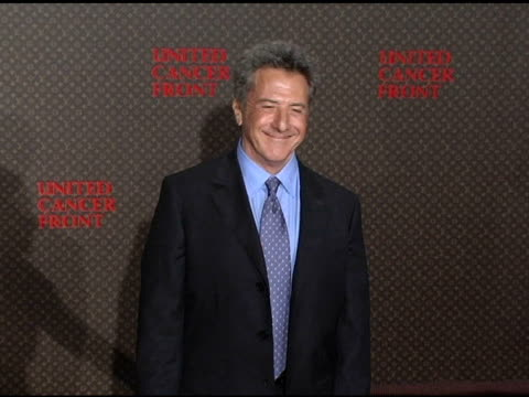 dustin hoffman at the 2nd annual louis vuitton united cancer front gala arrivals and show at universal studios in universal city california on... - dustin hoffman video stock e b–roll