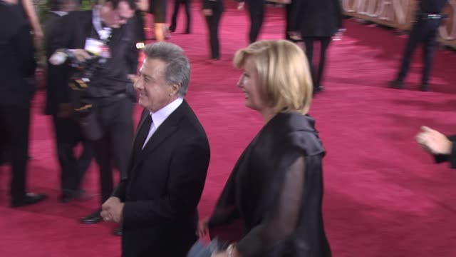 dustin hoffman at the 66th annual golden globe awards arrivals part 8 at los angeles ca - dustin hoffman video stock e b–roll