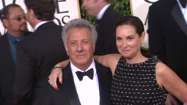 dustin hoffman at the 70th annual golden globe awards arrivals in beverly hills ca on 1/13/13 - dustin hoffman video stock e b–roll